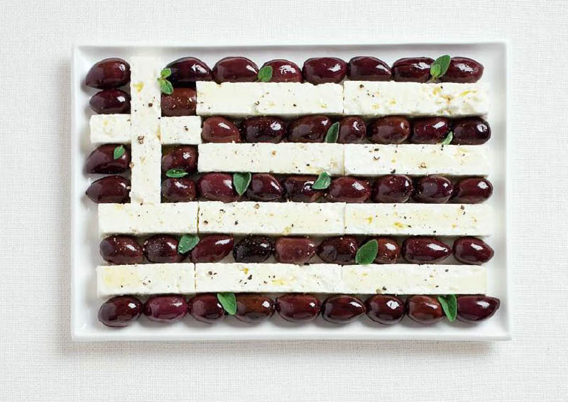 Greece olives and feta cheese