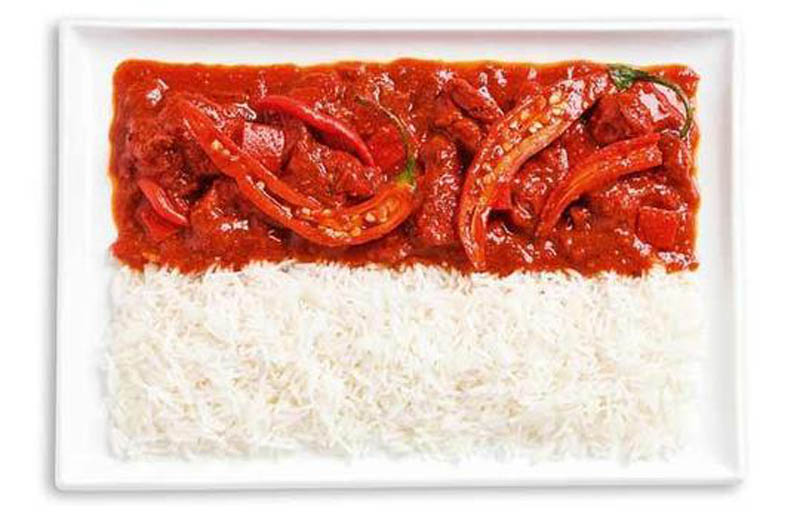 Indonesia spicy curries and rice