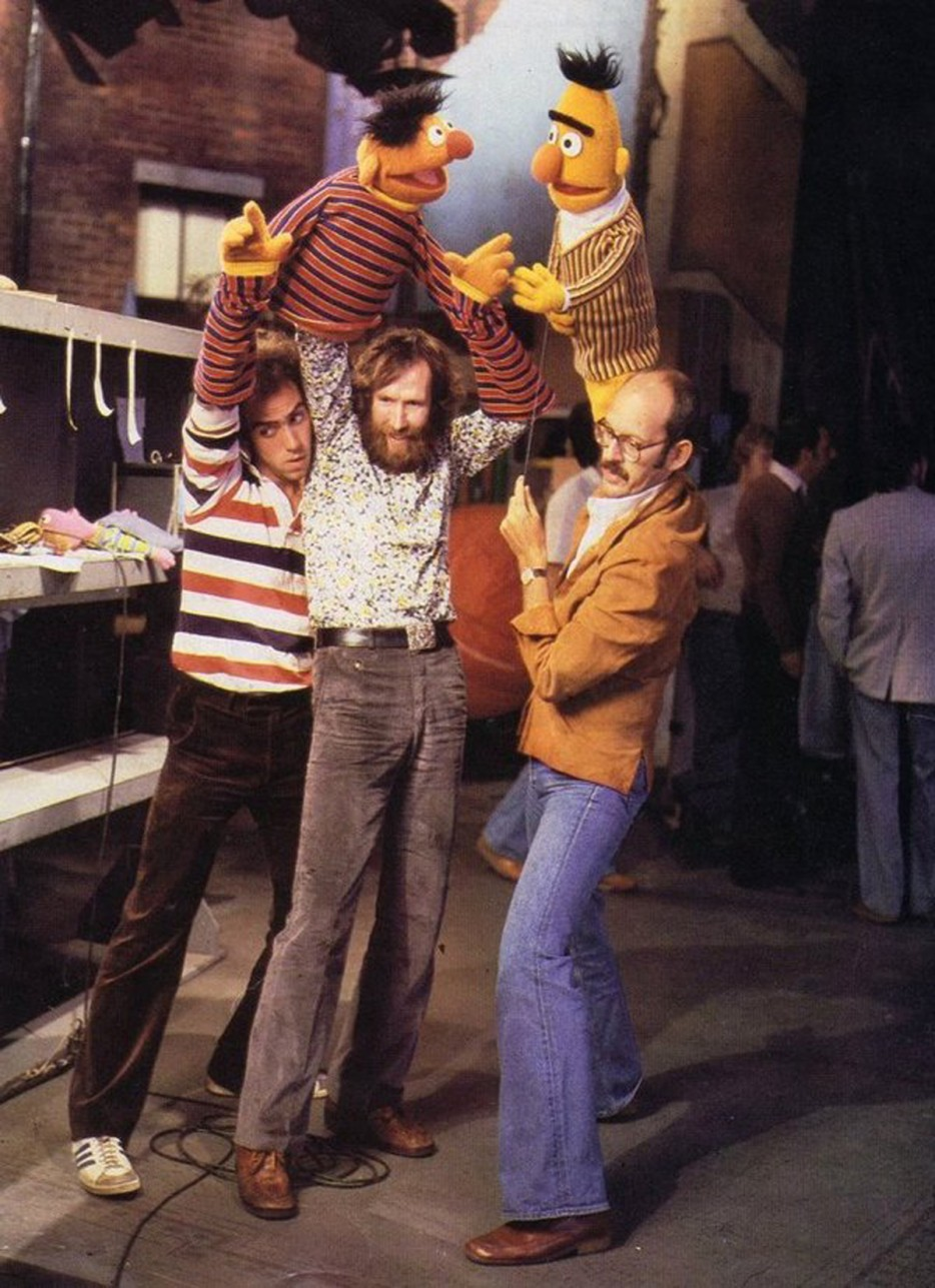 Jim Henson and crew working on Sesame Street