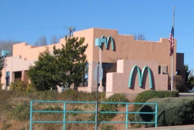 Only one McDonald's in the world has turquoise arches. Sedona, AZ thought yellow clashed with the natural red rock.