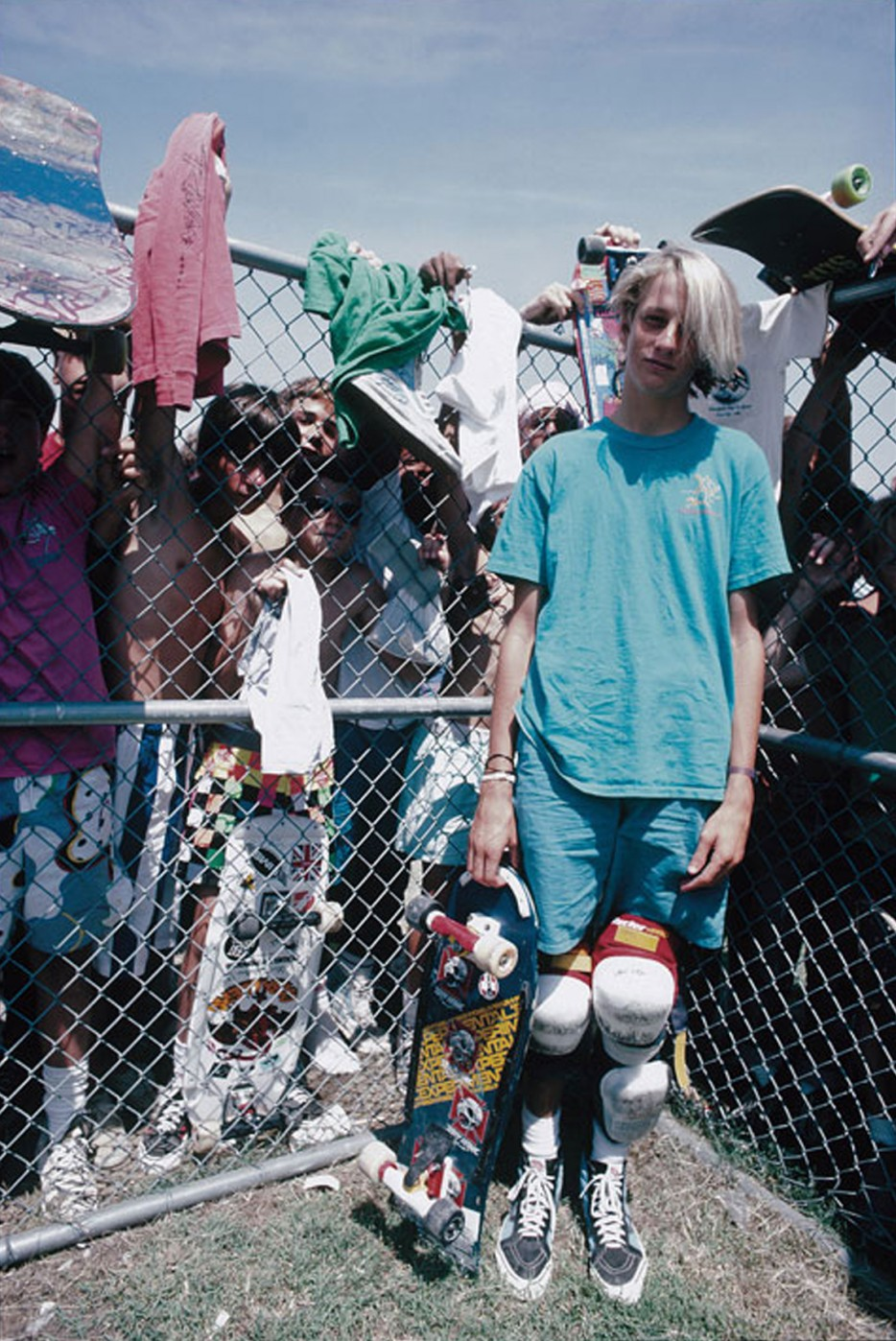 Tony Hawk at a local skate park in the 1980s