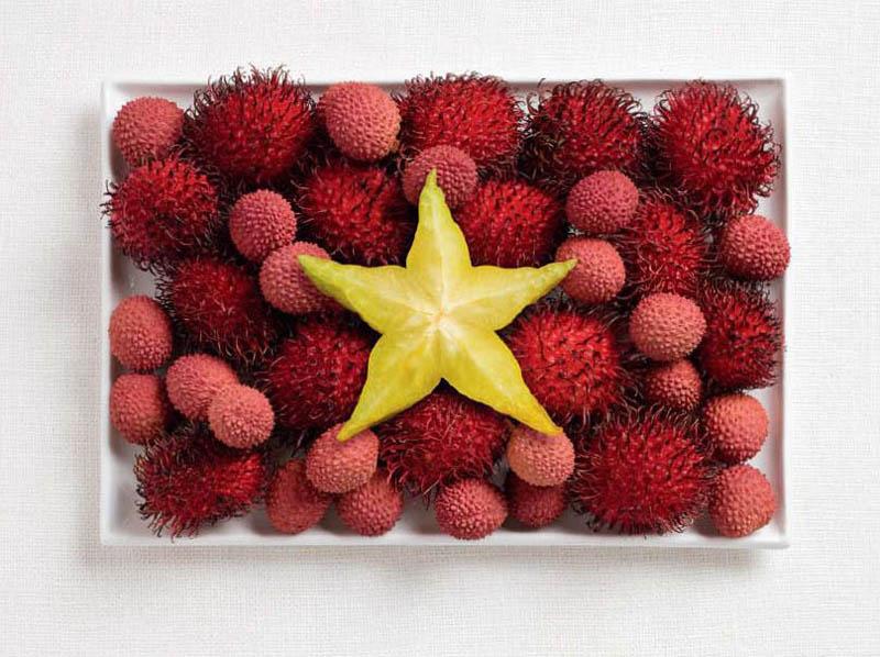 Vietnam rambutan, lychee and starfruit