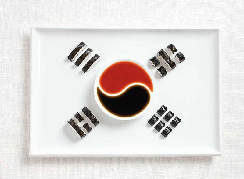 kimbap and sauces